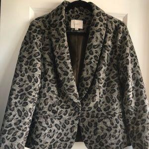 LOFT Leopard Blazer Size M